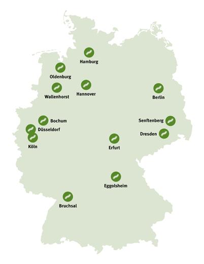 Karte mit regionalen Ansprechpartnern