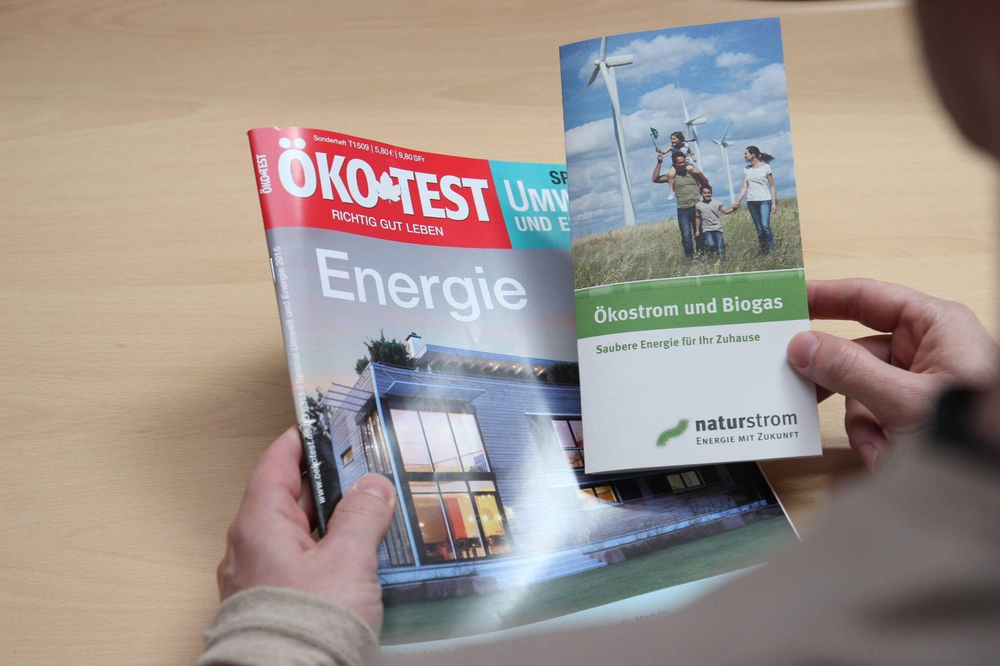 """ÖKO-TEST bewertet naturstrom mit """"sehr gut"""" © NATURSTROM AG"""
