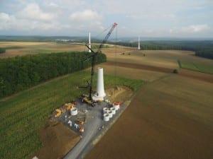 Im Landkreis Bad Kissingen nimmt NATURSTROM 2015 neben den Windparks Poppenlauer und Windheim auch drei Anlagen bei Ramsthal in Betrieb. © NATURSTROM AG