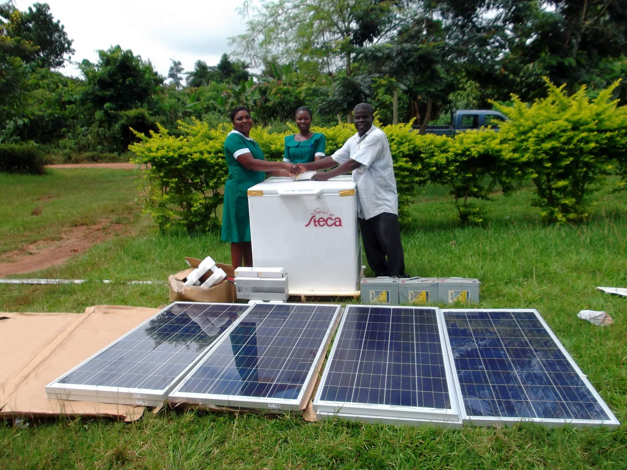 Solarstrom für eine Krankenstation in der Region Ntotroso © Hilfe für Ntotroso e.V.
