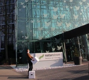 Da also geht's zum neuen Büro. NATURSTROM ist umgezogen. © NATURSTROM AG