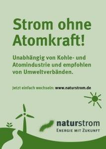 Strom ohne Atomkraft © NATURSTROM AG