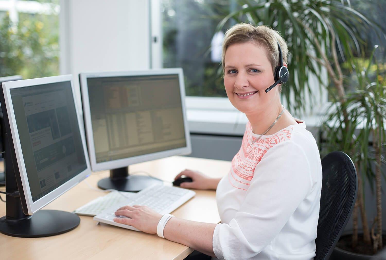 Claudia Sobe hat eine offenes Ort für die unterschiedlichsten Kundenfragen.