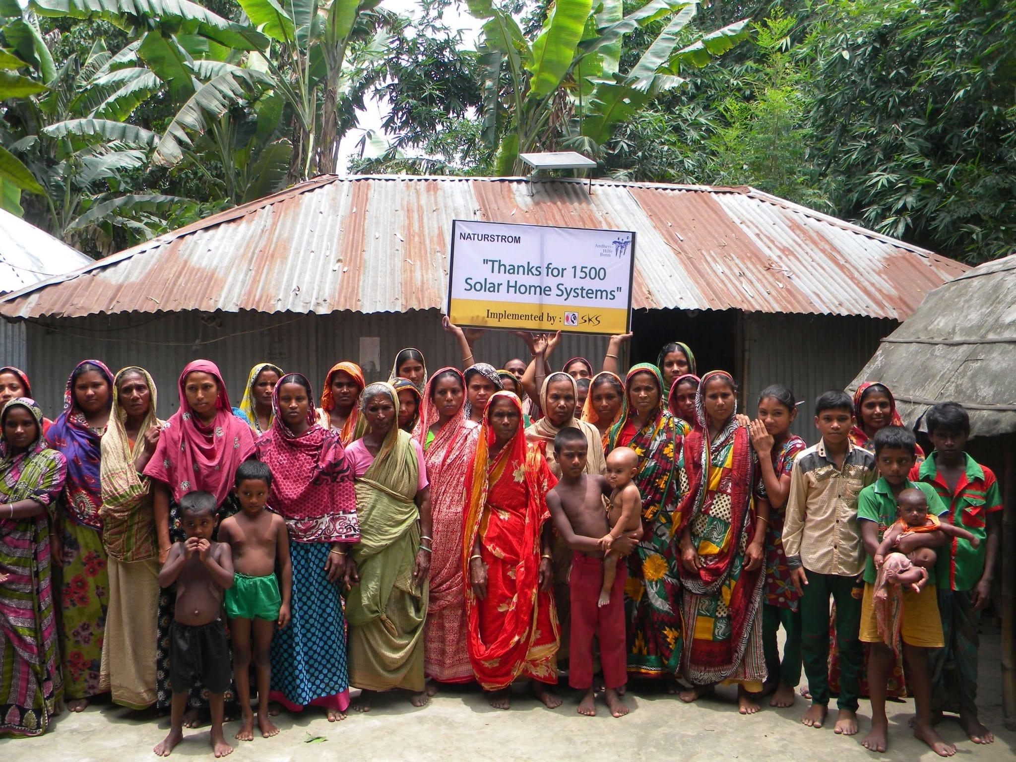 Dank NATURDTROM: Solarstrum für 3000 Familien in Bangladesch