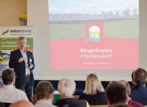 Im fränkischen Merkendorf hat NATURSTROM einen Solarpark errichtet. Nach der erfolgreichen Inbetriebnahme wurde den Einwohnern eine Beteiligung an dem Öko-Kraftwerk angeboten. (c) NATURSTROM AG