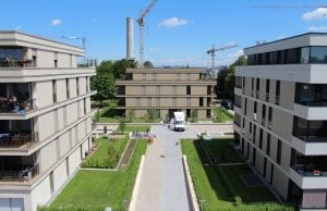 Gebäude im Münchener Domagkpark