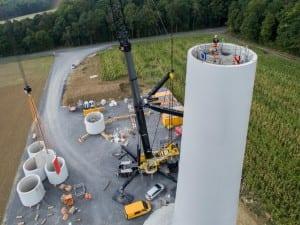 Bürgerwindpark Ramsthal: NATURSTROM erklärt Ihnen im Projekt-Bautagebuch, wie der Turm entsteht. (Bild: © NATURSTROM AG)