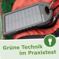Grüne Technik im Praxischeck - Solarladegerät