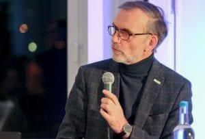 NATURSTROM Vorstand Thomas Banning in der Diskussion