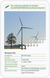 Der Windpark Hüll war der erste NATURSTROM-eigene Windpark.