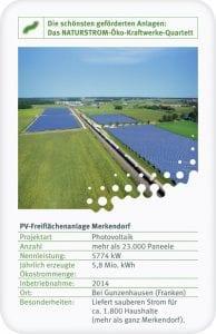 An der PV-Freiflächenanlage in Merkendorf konnten sich Bürgerinnen und Bürger beteiligen.