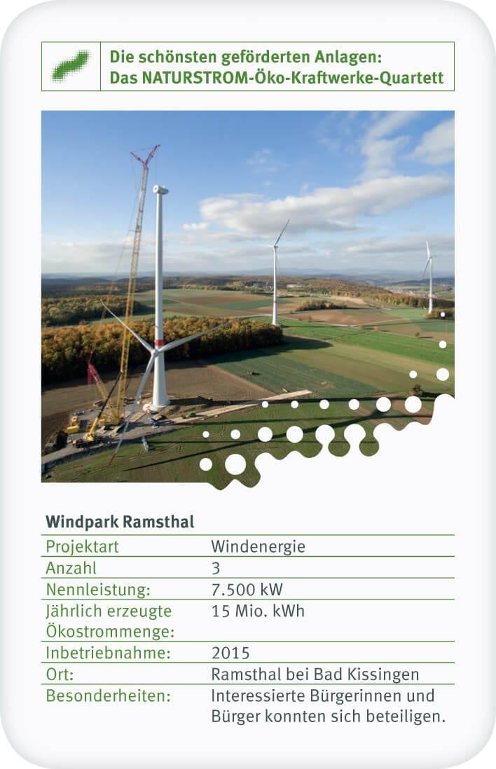 Der Bürgerwindpark Ramsthal wurde 2015 errichtet.