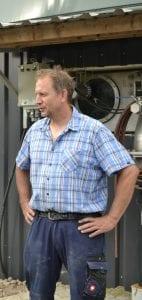 Bio-Landwirt Michael Hauser, Biogasanlage auf Gut Lanke im Barnim ,Foto: AEE