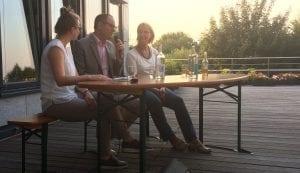 Diskussion bei NATURSTROM züber nachhaltige Mobilität