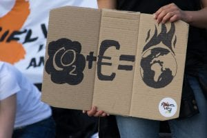 Protest gegen Globale Erderwärmung/ Klimawandel