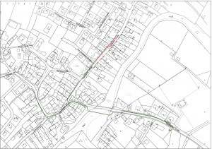 Karte des Nahwärmenetzes Hallerndorf