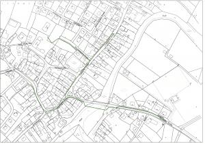 Bautagebuch Hallerndorf. Den Baufortschritt können Sie dem Trassenplan entnehmen: Der fertige Abschnitt ist grün markiert.