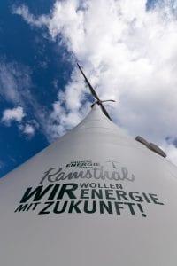 Windrad im Bürgerwindpark Ramsthal