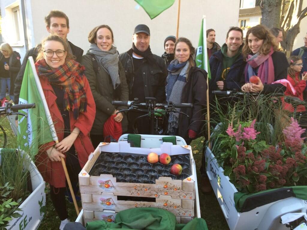 Das NATURSTROM-Team bei der COP 23-Demo. Foto: NATURSTROM
