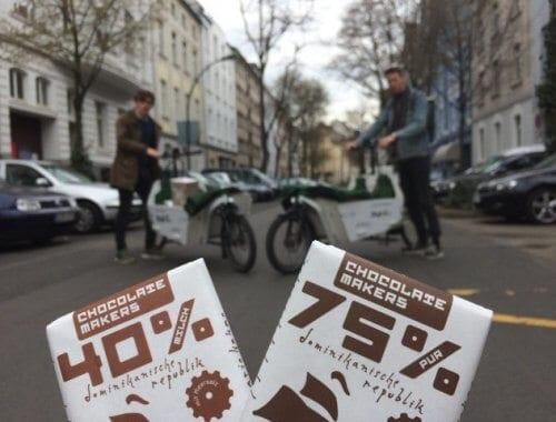 Emissionsfrei Schokoloade transportieren mit dem Donk-EE