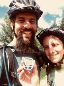Miriam und Daniel sind stolz auf die ersten 500 km.