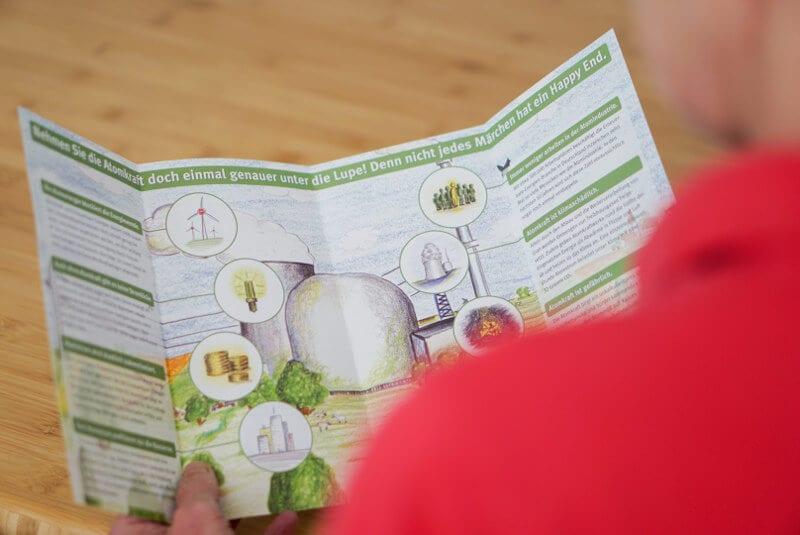 NATURSTROM-Flyer von 2010 mit Argumenten für die Energiewende