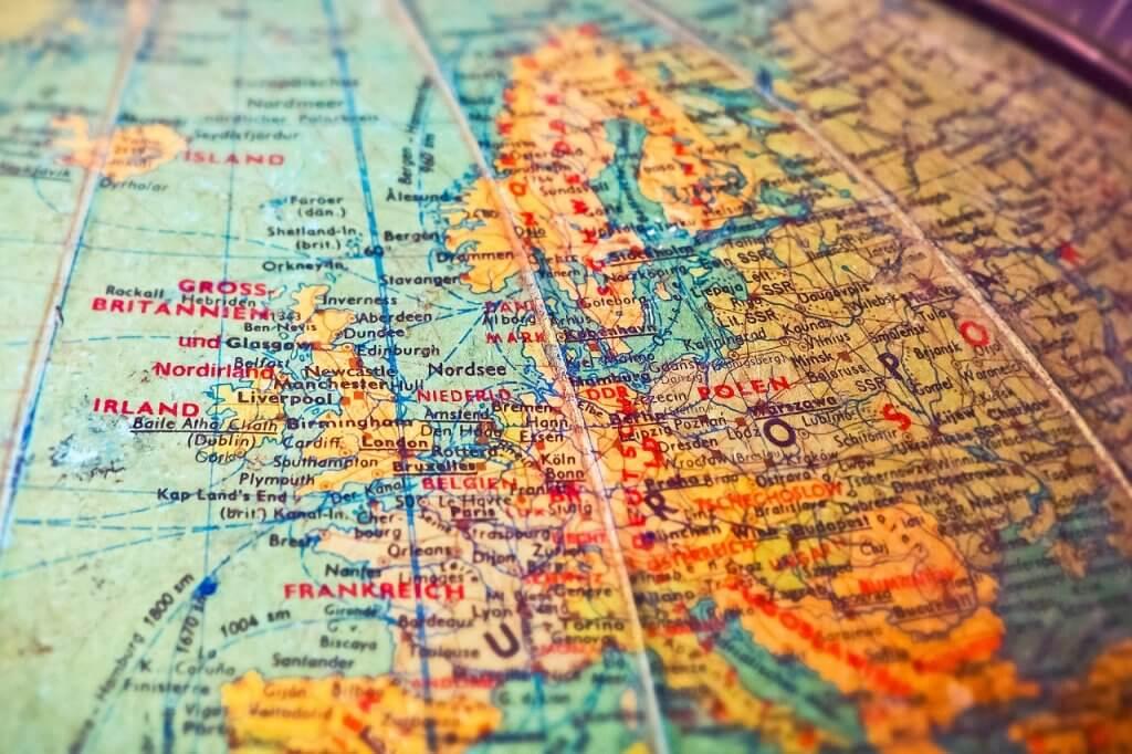 Europa-Landkarte