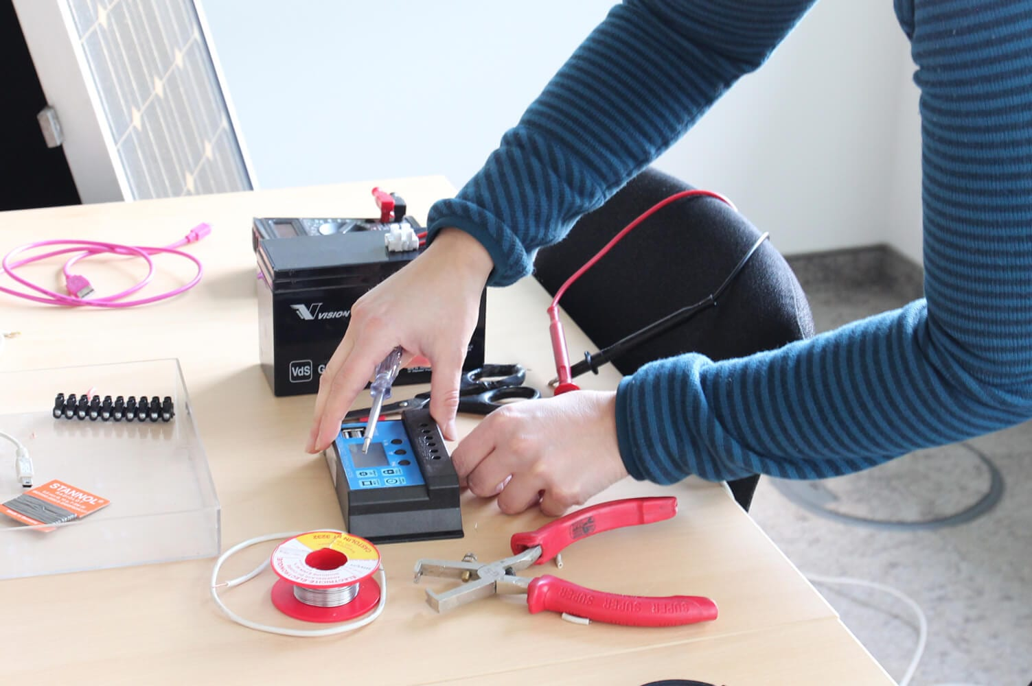 Bauanleitung Mini Solaranlage Mit Speicher Zum Handyladen