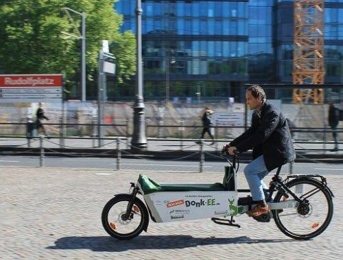Fahrradfahrer auf Donk-EE