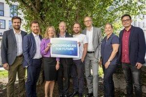 Gruppenfoto Entrepreneurs for Future mit Tim Meyer