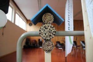 Insektenhotels sind für Bienen der ideale Platz zum Überwintern.