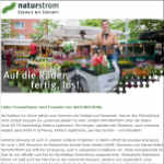 NATURSTROM Newsletter August 2018