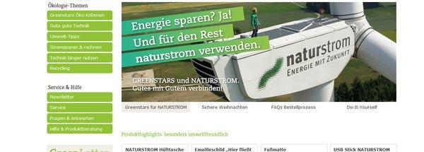 Energiesparen und mehr: neuer NATURSTROM-Shop online