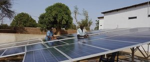 Solar plant supported by NATURSTROM at a clinic in Gambia